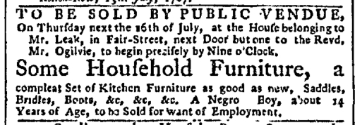Jul 13 - New-York Gazette Slavery 2