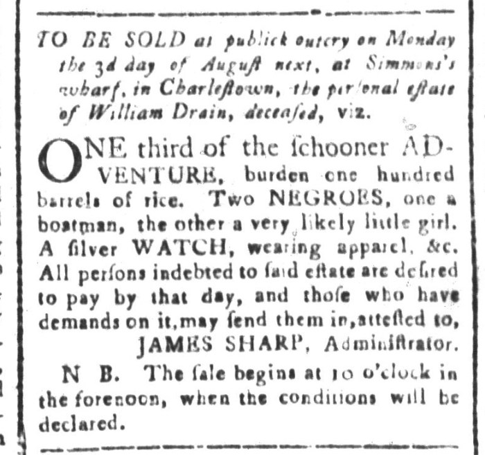 Jul 17 - South-Carolina and American General Gazette Slavery 5