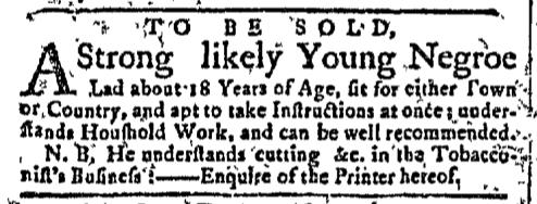 Jul 20 - New-York Gazette Slavery 1