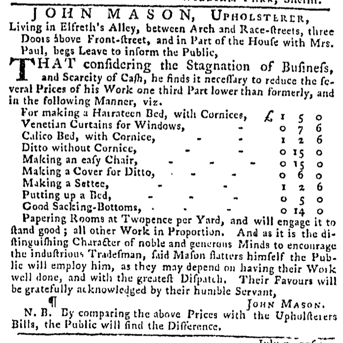 Jul 9 - 7:9:1767 Pennsylvania Gazette
