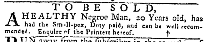 Jun 11 - Pennsylvania Gazette Slavery 1