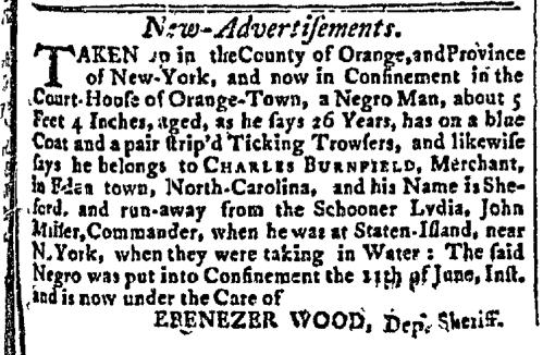 Jun 15 - New-York Gazette Slavery 1