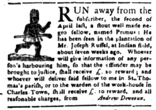 Jun 15 - South Carolina Gazette Slavery 1
