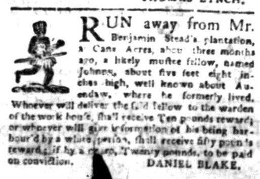 Jun 15 - South Carolina Gazette Slavery 4