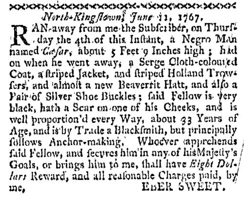 Jun 22 - Boston-Gazette Slavery 1