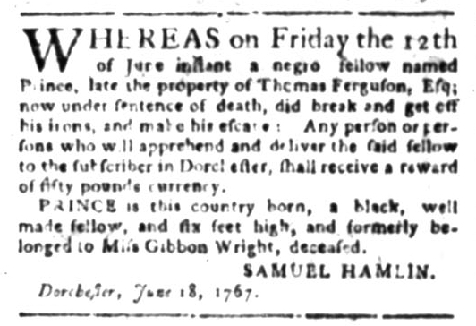 Jun 22 - South Carolina Gazette Slavery 1