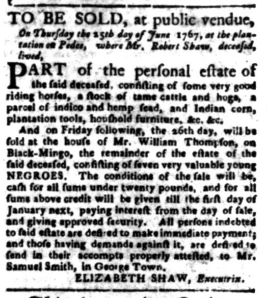 Jun 22 - South Carolina Gazette Slavery 3
