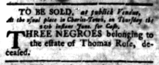 Jun 22 - South Carolina Gazette Slavery 8