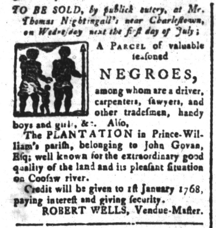 Jun 26 - South-Carolina and American General Gazette Slavery 1