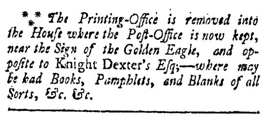 Jun 6 - 6:6:1767 Providence Gazette