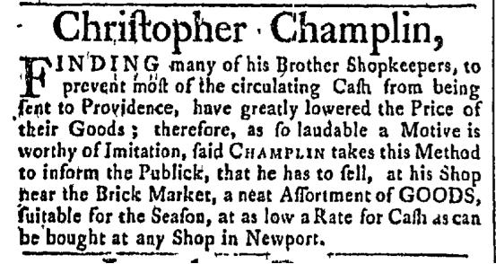 Jun 8 - 6:8:1767 Newport Mercury
