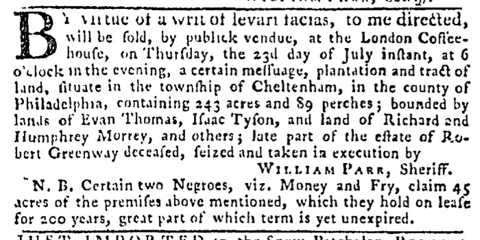 Jul 23 - Pennsylvania Gazette Slavery 5