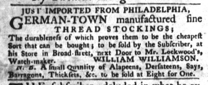 Jul 28 - 7:28:1767 South-Carolina Gazette and Country Journal