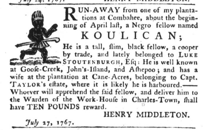 Jul 28 - South-Carolina Gazette and Country Journal Slavery 2