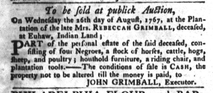 Jul 28 - South-Carolina Gazette and Country Journal Slavery 8