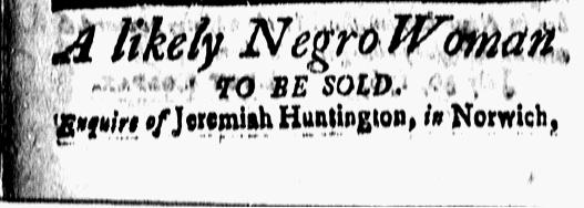 Jul 31 - New-London Gazette Slavery 1