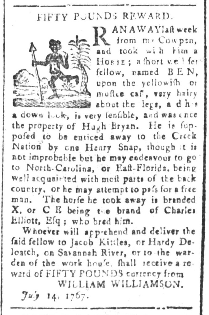 Jul 31 - South-Carolina and American General Gazette Slavery 4