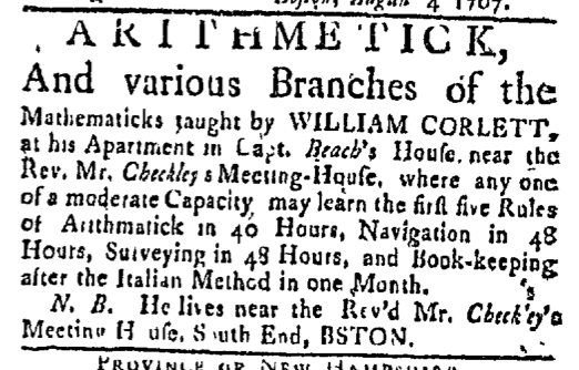 Aug 10 - 8:10:1767 Boston Post-Boy