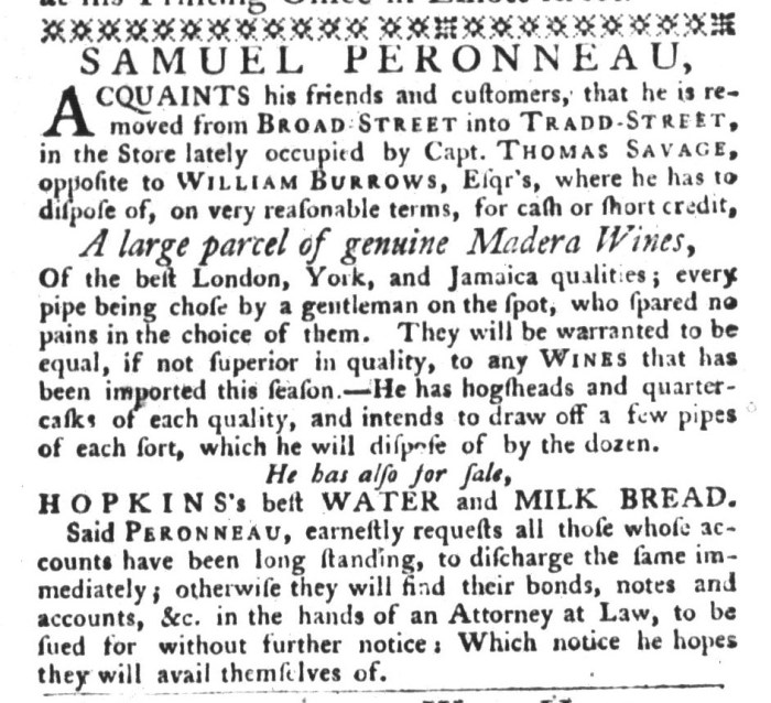 Aug 18 - 8:18:1767 South-Carolina Gazette and Country Journal Supplement