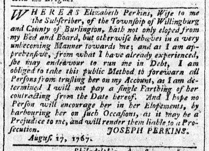 Aug 24 - 8:24:1767 Advert Pennsylvania Chronicle