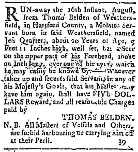 Aug 24 - Connecticut Courant Slavery 1