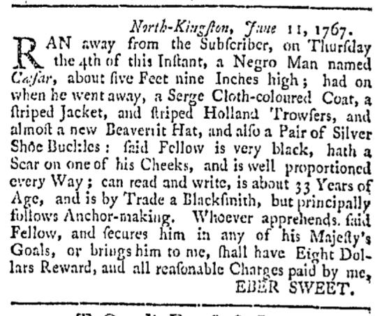 Aug 29 - Providence Gazette Slavery 2