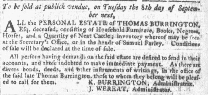 Aug 5 - Georgia Gazette Slavery 5