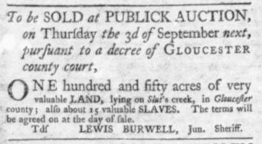 Aug 6 - Virginia Gazette Slavery 3