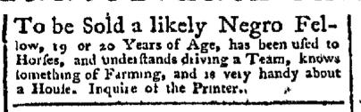 Sep 21 - Pennsylvania Chronicle Slavery 2