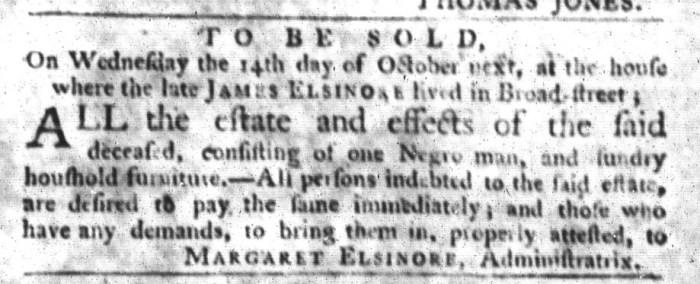 Sep 22 - South-Carolina Gazette and Country Journal Slavery 3