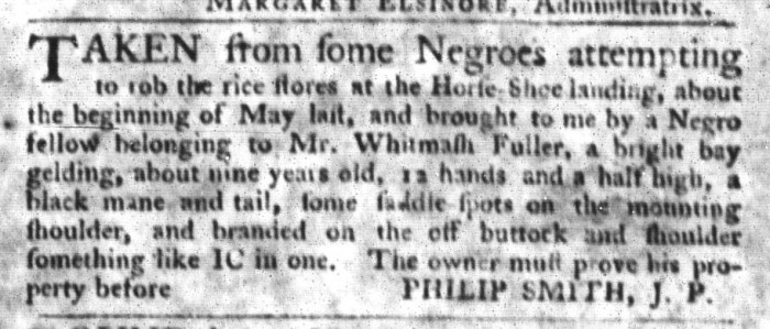 Sep 22 - South-Carolina Gazette and Country Journal Slavery 4