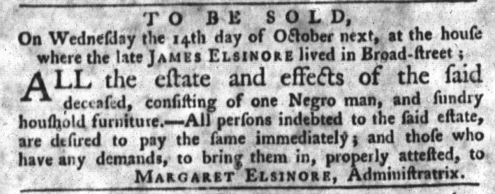 Sep 29 - South-Carolina Gazette and Country Journal Slavery 5