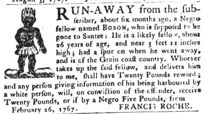 Sep 29 - South-Carolina Gazette and Country Journal Supplement Slavery 7