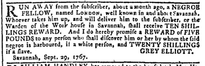 Sep 30 - Georgia Gazette Slavery 1