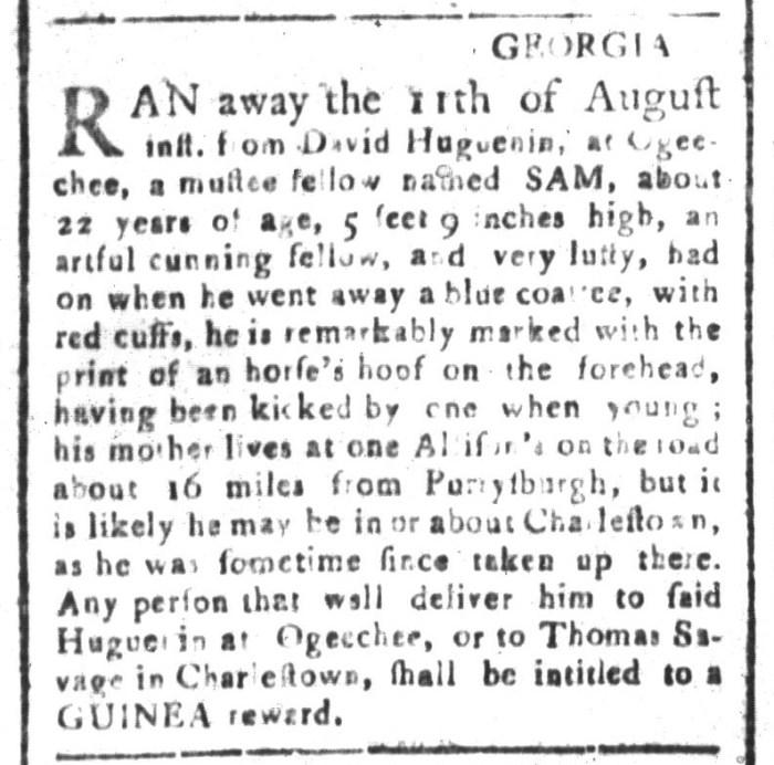 Sep 4 - South-Carolina and American General Gazette Slavery 2