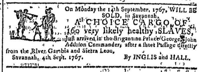 Sep 9 - Georgia Gazette Slavery 3