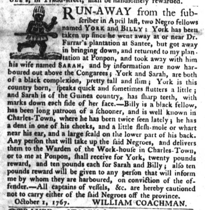 Oct 13 - South-Carolina Gazette and Country Journal Slavery 5