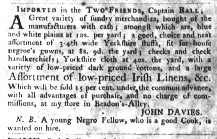 Sep 22 - 9:22:1767 South-Carolina Gazette and Country Journal