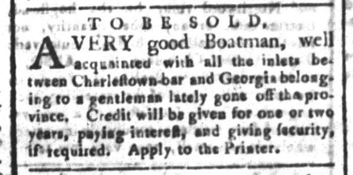 Nov 13 - South-Carolina and American General Gazette Slavery 4
