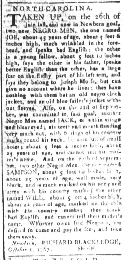 Nov 13 - South-Carolina and American General Gazette Slavery 5