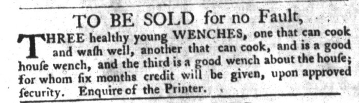 Nov 3 - South-Carolina Gazette and Country Journal Slavery 2