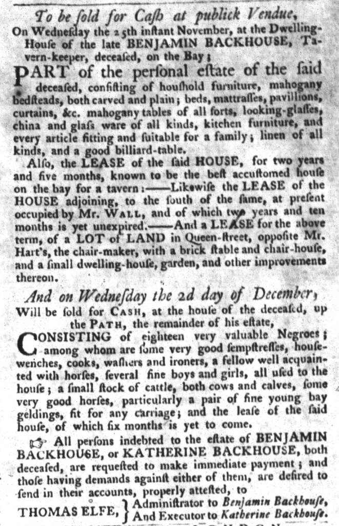 Nov 3 - South-Carolina Gazette and Country Journal Slavery 5