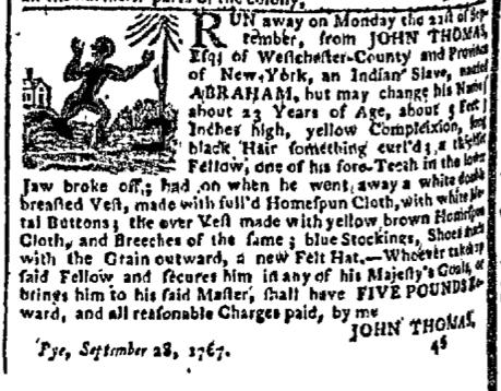 Nov 9 - New-York Gazette Slavery 1
