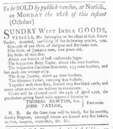 Oct 15 - Virginia Gazette Slavery 4