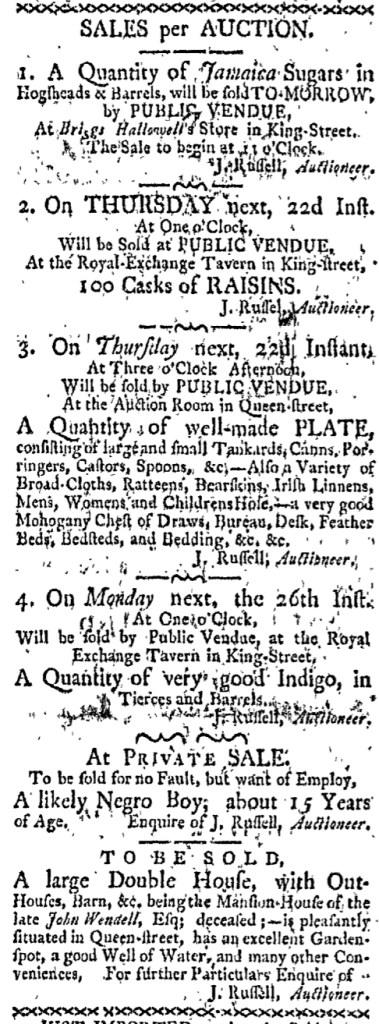 Oct 19 - Boston-Gazette Slavery 1