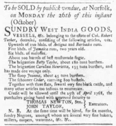 Oct 22 - Virginia Gazette Slavery 5