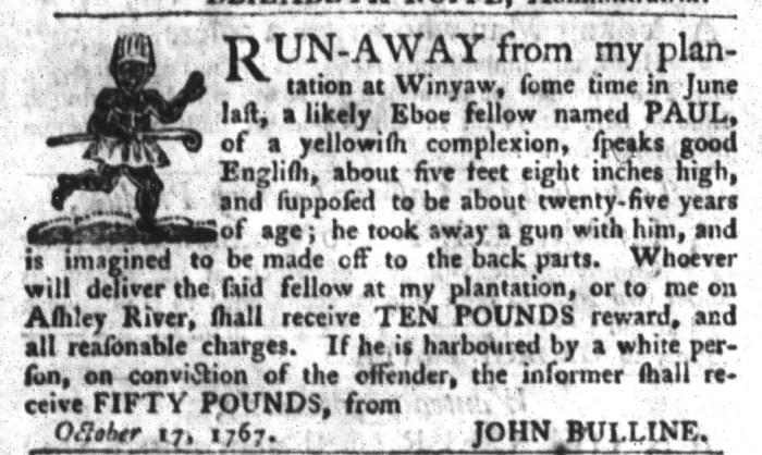 Oct 27 - South-Carolina Gazette and Country Journal Slavery 8