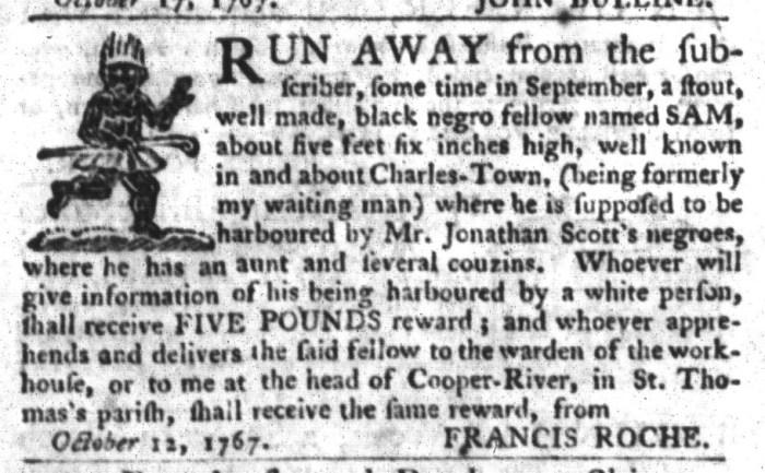 Oct 27 - South-Carolina Gazette and Country Journal Slavery 9
