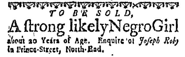 Oct 29 - Massachusetts Gazette Slavery 1
