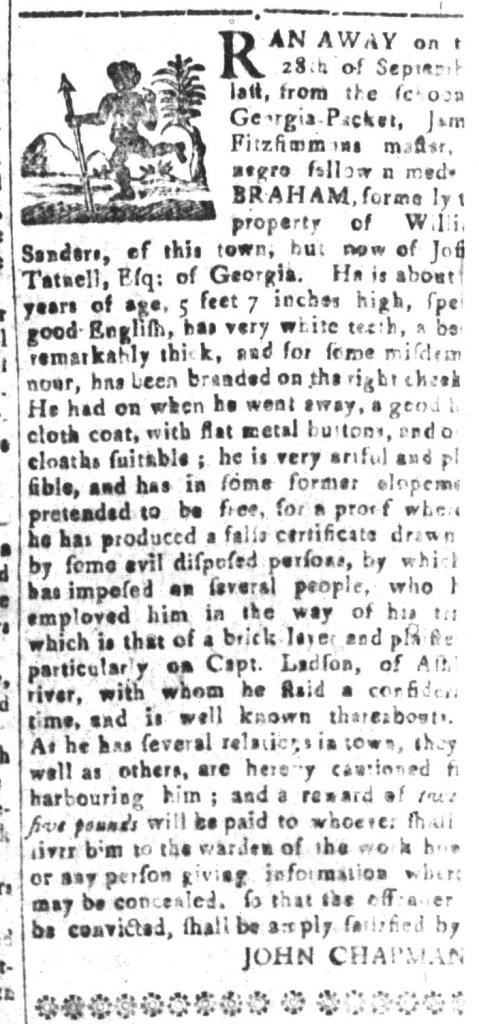 Oct 30 - South-Carolina and American General Gazette Slavery 7